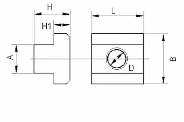 Gussaluminium T Nutensteine Mit M6 Gewinde Din508 Fur 10mm Nuten